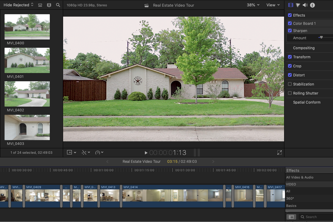 real estate video grid